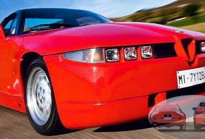 Alfa Romeo GIULIETTA SZ (1961) e  S.Z. ES 30 (1989)
