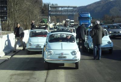 La Variante di Valico sulla A1 inaugurata con il Fiat 500 Club Italia