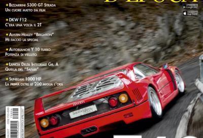 La prova della Ferrari F40 sulla copertina di Automobilismo d'Epoca di Aprile