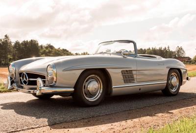 I 60 anni di Flaminia e Mercedes 300 SL all'asta padovana di Bonhams