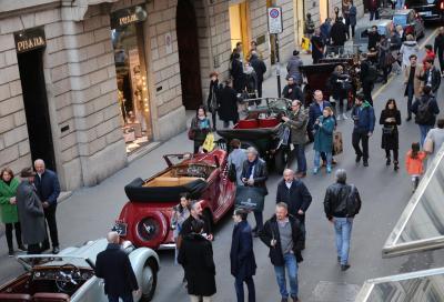 Venticinque veterane a Milano in pieno centro città, ricordando D'Annunzio