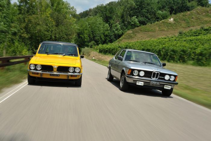Le divergenze parallele: due interpretazioni di berlina sportiva negli anni '70