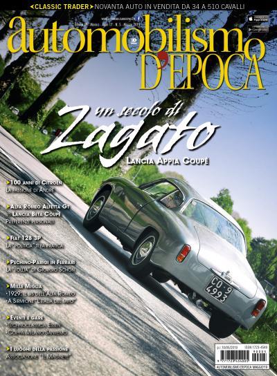 Le Lancia Appia Coupé Zagato in copertina su Automobilismo d'epoca di maggio