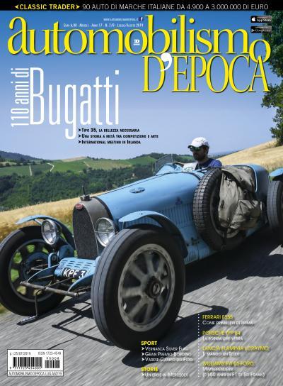 Dedicata ai 110 anni di Bugatti la nuova copertina di Automobilismo d'epoca