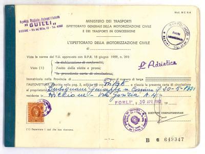 I documenti originali dei veicoli storici sono salvi
