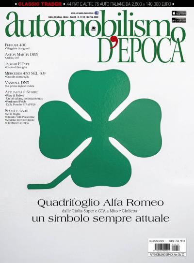 Il Quadrifoglio Alfa Romeo sulla copertina del nuovo Automobilismo d'epoca