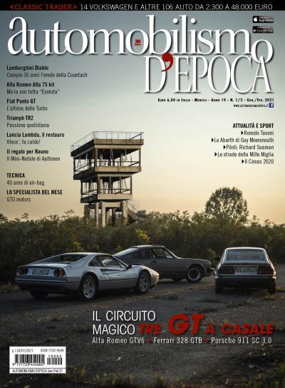 Nuovo Automobilismo d'epoca: in copertina tre amici in viaggio all'autodromo di Casale con tre GT