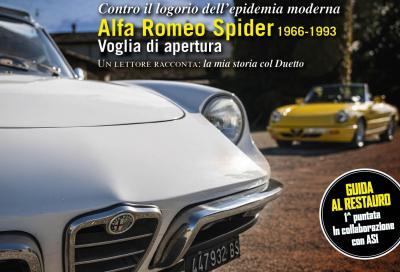 """L'Alfa Romeo """"Duetto"""" in copertina del nuovo numero"""