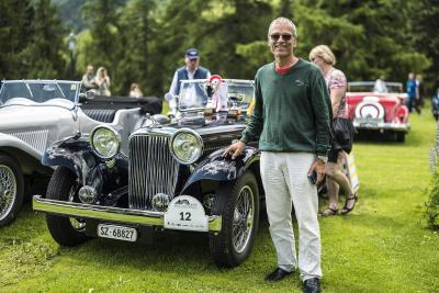 """Una SS del 1935 vince il premio """"Best of show"""" al British Classic Car Meeting di Sankt Moritz"""