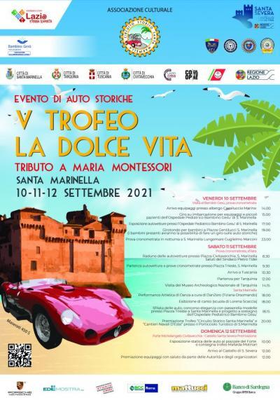 Auto d'epoca, al via da venerdì 10 settembre il trofeo 'La Dolce Vita'