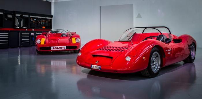 Abarth Classiche: da sinistra, un'Abarth Sport 2000 SP e una SP 1000