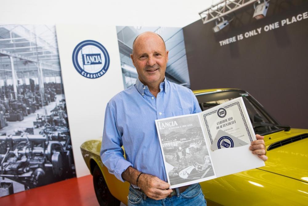 Miki Biasion ha certificato la sua Lancia Fulvia Coupé Safari.