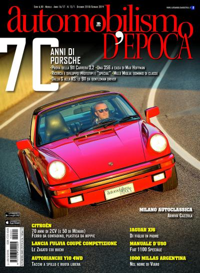 La Porsche 911 Carrera 3,2 sulla copertina del nuovo Automobilismo d'epoca