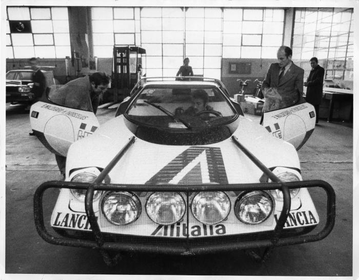 la stratos per il safari del 1975; al volante, umberto maglioli