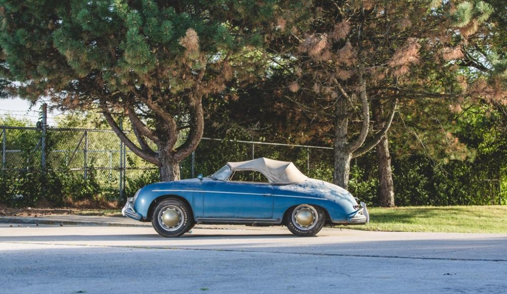 Storia di due porsche una 356 speedster chiusa in garage for Due garage di storia in vendita